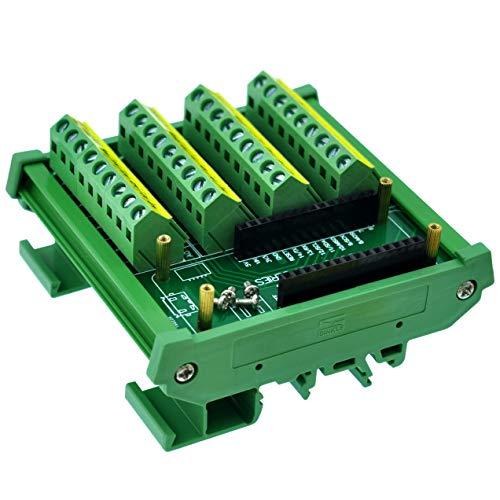 CZH-LABS DIN-Schienenmontage Schraubklemmenblock Breakout Modul Board für Arduino MKR