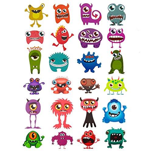 Oblique Unique® 24 lustige Bunte Monster Sticker Aufkleber - Sticker Monster Aufkleber