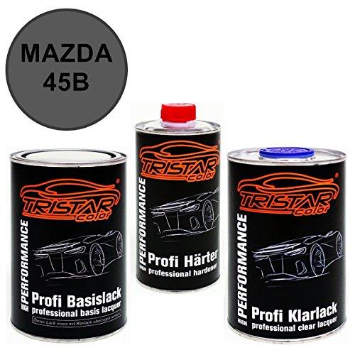 Preisvergleich Produktbild 2,5 Liter 2K Lack Set MAZDA 45B ETARNAL BLUE P. ab 2016 - Profi Autolack spritzfertig & Klarlack & Härter