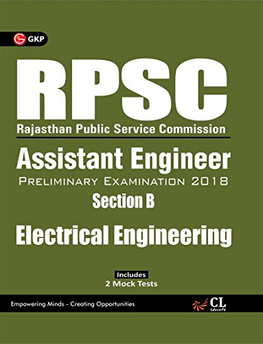 RPSC Assistant Engineer - Electrical Engineering (Section B) Preliminary Examination 2018