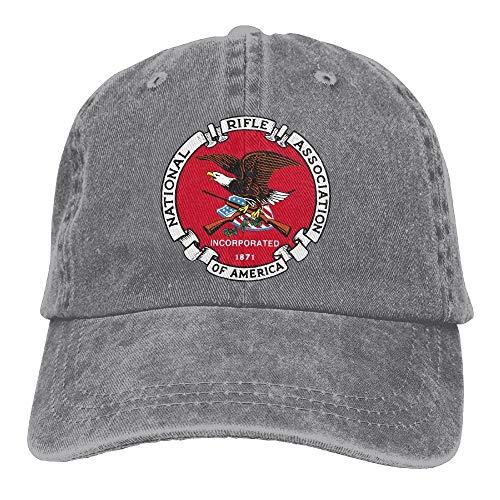 Zcfhike National Rifle Association NRA Papa Chapeau Réglable Denim Chapeau Casquette De Baseball Classique Fashion25