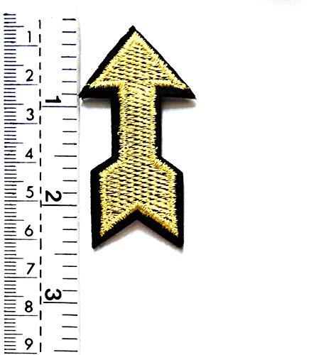 Tap Tap Cartoon Patches Aufnäher mit goldfarbenen Pfeilen, Zeichentrick-Symbolen, für Kinder, Weste, Jacke, Biker, Motorradfahrer, Biker, Tattoo, Jacke, T-Shirt, Aufnähen, ()