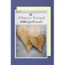 Suchergebnis Auf Amazon De Fur Holzerne Hochzeit Karten