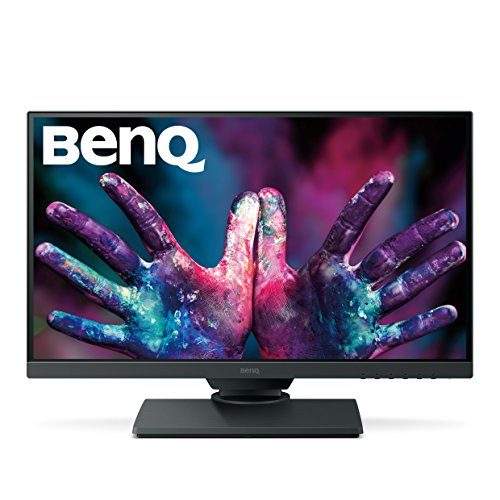 BenQ PD2500Q 25 inch 2K Designer Monitor, 1440p QHD, IPS, 100% Rec.709 and sRGB, Factory Calibrated, Eye-Care, Ultra Slim Bezel Design, Height Adjustable, Flicker-free, Anti Glare, HDMI and DP
