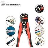 Zeerkeer Stripping Automatico Del Filo Strumento per Cutter e Crimper Acciaio Inox Stripper Autoregolante per 10-24 AWG (rosso)