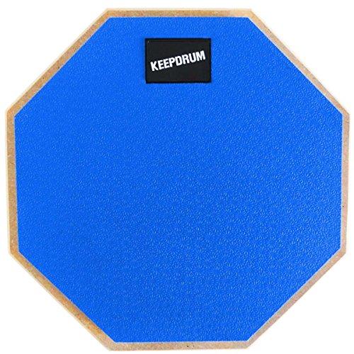 KEEPDRUM DP-BL Practice Pad Blau Drum Übungspad mit 8mm Gewinde