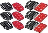 yayago 6er Set Flat + Curved Mount mit 3M VHB Adhesive Sticker geeignet für DBPower HD 1080p
