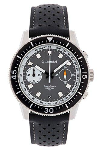 Gigandet Speed Timer Men's Analogue Chronograph Quartz Watch Grey Black G7-003