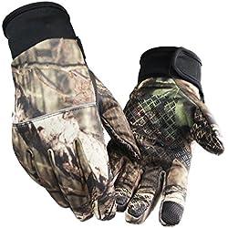Gants tactiles d'écran de camouflage unisexe Hiver anti-dérapant Gants de camping sportif en plein air