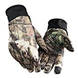 Leoie Unisex Camouflage Screen Touch Gloves Winter Anti-Slip Outdoor Sporting Camping Hunting Gloves