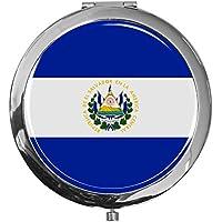 "metALUm - Extragroße Pillendose in runder Form""Flagge El Salvador"" preisvergleich bei billige-tabletten.eu"