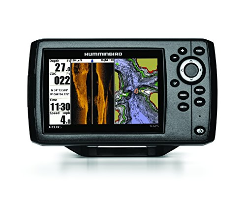 Humminbird 409640–1Helix 5SI Echolot mit Side-Imaging-Technik und GPS (Combo Gps Fishfinder)
