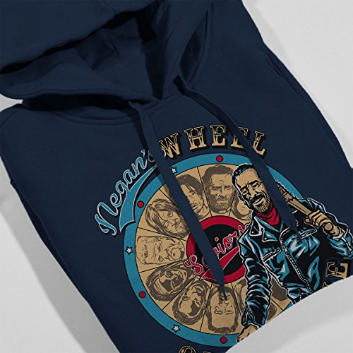 The Walking Dead Wheel Of Fortune Women's Hooded Sweatshirt Navy Blue