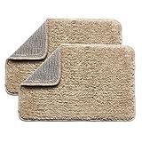 Urban hues Polyester Shaggy Doormat Combo of 2 (16''X24'' inch) (Beige)