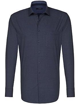 SEIDENSTICKER Herren Hemd Modern 1/1-Arm Bügelleicht City-Hemd Kent-Kragen Kombimanschette weitenverstellbar
