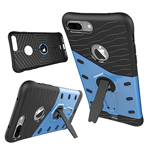 Meimeiwu TPU Custodia antiurto Armour Dual Layer armatura Con Kickstand per Iphone 7 Rosso Blu