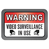ACHTUNG Videoüberwachung Gedenktafel in Verwendung 9x 6Aluminium Schild Blechschilder Vintage Road Signs Zinn Teller Zeichen, Deko