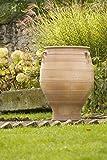 große terracotta Amphore mit Henkel, 100 cm, frostfest mediterrane Keramik für den Garten Terrasse Außenbereich Deko, Thymus