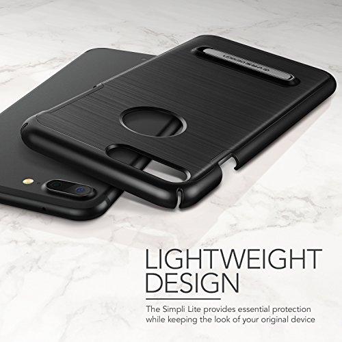 """Coque iPhone 7 Plus, VRS Design [Simpli Lite][Titanium Noir] - [Housse de Protection] [Slim Case][Kickstand][Anti Scratch Etui][Anti Chocs Case][Military Grade] Pour Apple iPhone 7 Plus 5.5"""" Noir"""
