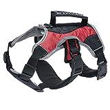 Treat Me Hundegeschirr Gepolstert mit Brustschutz Unterlage Streamline Design Verstellbar Brustgeschirr für Mittlere Große Hunde Rot XL