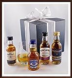 Sehr alte Scotch Whisky Miniaturen (18 Jahre alt) mit kleinem Spey Dram Glas im Geschenk Karton, kostenloser Versand
