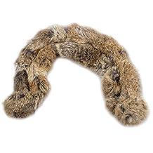 REFURBISHHOUSE Bufanda de modelo nuevo de 100% autentico pelo de conejo de corta collar para