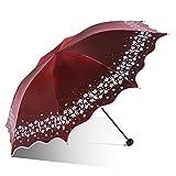 Sonnenschirm Anti-UV Verfärbung Flash-Tuch Kleine frische Umbrella 8 Aktien Taschenschirm ( Farbe : 2 )