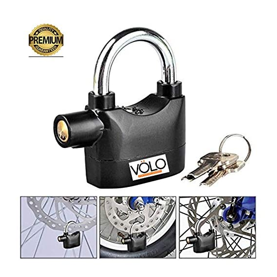 VOLO Alarm Security Lock for Home and Office Door with Motion Sensor and 3 Keys (Black)