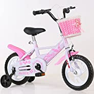 دراجة كروزر للأطفال مع عجلات للتدريب من ماي بي كيو مقاس 45.72 سم، لون وردي
