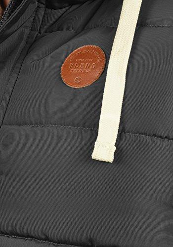 BLEND Frediano Herren Weste mit Stehkragen und Kapuze mit Teddy-Futter aus hochwertiger Materialqualität Phantom Grey (70010)