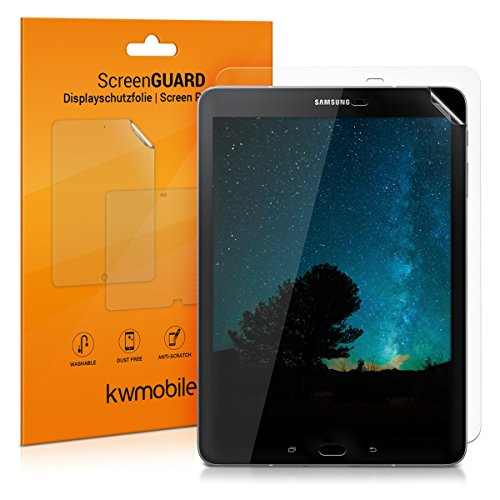 kwmobile 2X Samsung Galaxy Tab S3 9.7 T820 / T825 Folie - Full Screen Tablet Schutzfolie für Samsung Galaxy Tab S3 9.7 T820 / T825 klar