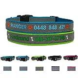 Grazioso vita personalizzato Dog ID collare, Personalized Dog tag catena del nome ID Collar Big grande piccolo cane, collo 25,4- 55,9cm regolabile collari cani