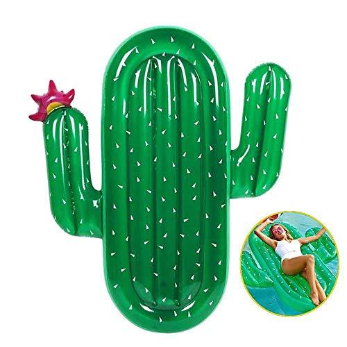 Qyhss giocattolo gonfiabile della piscina, giocattolo della piscina di estate del galleggiante della piscina, materassino gonfiabile enorme dell'aria del cactus, per gli adulti, bambini