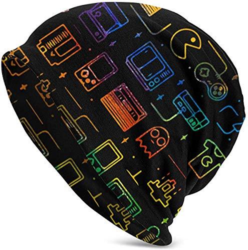 luoyanglebashang Weihnachtsmütze Game Video Gaming Pattern Unisex Hut Paar Junge Männer und Frauen Pullover warme Mütze