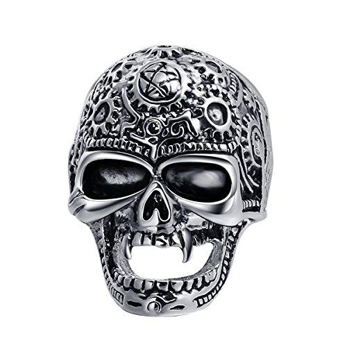 De nuevo para llegar EVBEA del motorista de la motocicleta joyería Gótica Steampunk de joyería anillos para hombres con un terciopelo bolsa