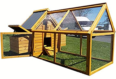 Cocoon CHICKEN COOP HEN HOUSE POULTRY ARK NEST BOX NEW - MODEL ECO 600-2N WITH DETACHABLE HUGE 1.4M RUN by Cocoon