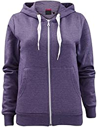 Made by PURL® Womens Ladies Plain Hoodie Zip Zipper Pockets Long Sleeve  Hooded Top Hoody 555222d1987