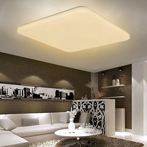 SAILUN 36W LED Bianco Caldo Quadrata Ultraslim Plafoniera Lampada a Soffitto Lampadina a Risparmio Energetico Corridoio per Lampada da Soggiorno Lampada da Cucina Camera da Letto