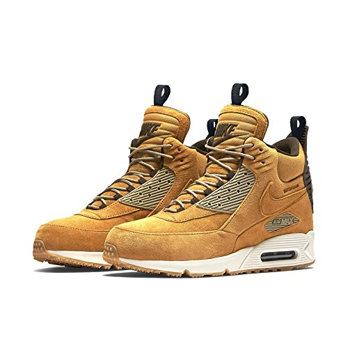 Nike Air Max 90 Sneakerboot Wntr, Chaussures de Running Entrainement Homme, Bamboo, 44,5 EU Multicolore (Naranja / Negro / Marrón (Bronze / Black-Bamboo-Bl Ribbon))