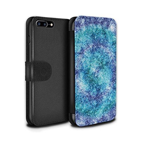 STUFF4 PU-Leder Hülle/Case/Tasche/Cover für Apple iPhone 7 Plus / Ast/Muster Muster / Teal Mode Kollektion Bokeh/Funkeln/Fokus