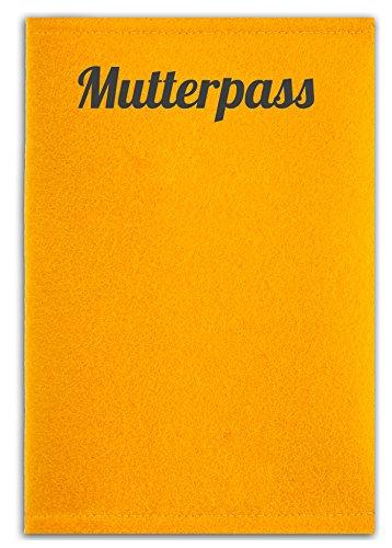 mutterpass filz gelb