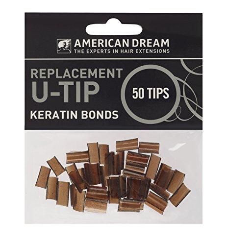 American Dream Paquet de 50 Capsules de Remplacement à la Kératine pour Extensions Pré-soudées Brun Clair