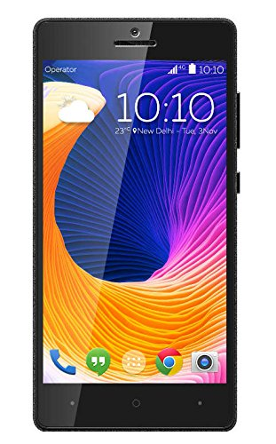 Kult Life 10 Smartphone 4G 5 Inch 3 GB RAM 16 GB ROM Android Lollipop 5.1.1 Sandstone Black