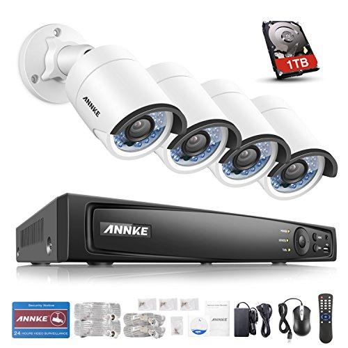 ANNKE 8CH 4MP POE NVR Überwachungssystem, Netzwerk Video Recorder + 4×4 Megapixel IP Überwachungsskameras mit 1TB Überwachung Festplatte, POE Plug und Play, Bewegungserkennung mit E-Mail Alarm