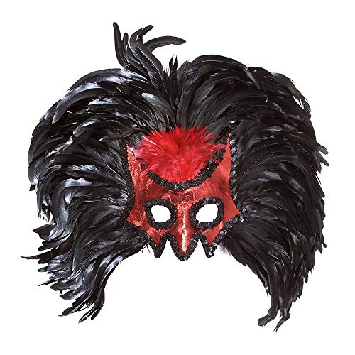 Devil Masks with Maxi Feathers