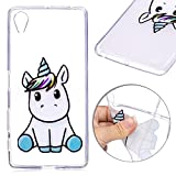 Sony Xperia X Coque Silicone Housses de Protection Clair Telephones Attrapeur Reves Motif Mode Protection Flexible Transparent Souple TPU Cases Covers Anti-Choc Ultra Mince Legere Protector ,Licorne