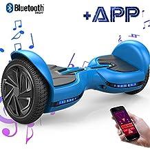 """EVERCROSS Hover Board Diablo 6,5"""" Smart Skateboard Électrique Bluetooth Scooter Certifié CE de Boutique GyroGeek (Blue)"""