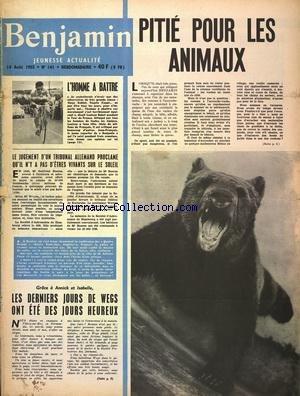 BENJAMIN JEUNESSE ACTUALITE [No 141] du 14/08/1955