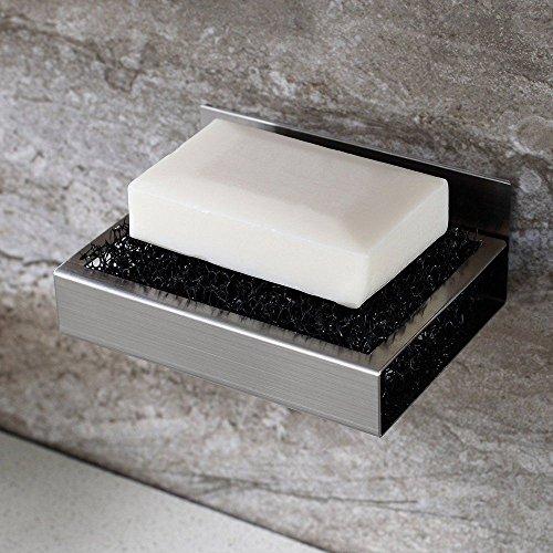 Selbstklebende Seifenschale, Seifenhalter seifenablage ohne Bohren Edelstahl rostfrei Badezimmer Küche