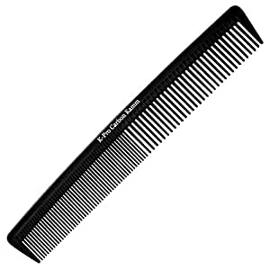 K-Pro Carbon Kamm - Haarkamm & Bartkamm Antistatisch - für Damen und Herren